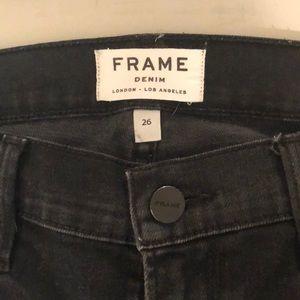 Frame Denim Black Jeans